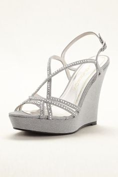 Spice up your look with these dazzling high heel wedges! Style Shiloe at David's Bridal.