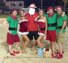 Easy No-Sew DIY Christmas in July Group Costume... Coolest Halloween Costume Contest