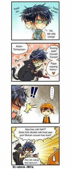 Busted... Lol! >< Cute Comics, A Comics, Anime Comics, Funny Comics, Boboiboy Galaxy, Anime Galaxy, Boboiboy Anime, Anime Kiss, Naruto Akatsuki Funny