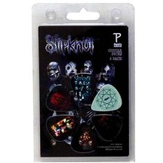 Official Slipknot 6 x guitar pick set Perfect for any guitar player, collector or true fan, makes a great gift item or a treat for yourself!