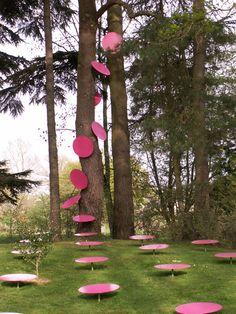 #art, Marie Hélène Richard #installation for the #garden of Art, Châteaubourg, France, Les Entrepreneurs Mécènes.