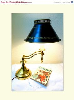 On Sale Mid Century Lamp Adjustable Tole by ClassicEndearments
