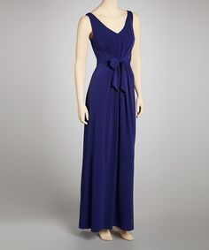 Take a look at this Blue Bird Double-V Maxi Dress by Ivy and Blu Maggy Boutique on #zulily today!
