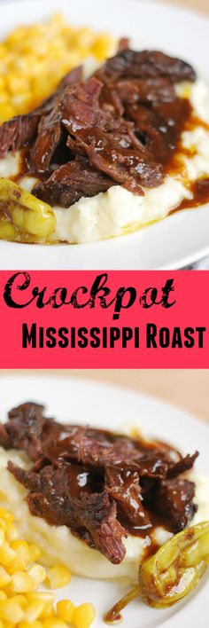 Crockpot Mississippi Roast - just  5 ingredients for the yummiest dinner!