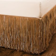 I totally want something like this but would like to see it in more colors.  Pendleton Fringed Suede Bed Skirt - Queen