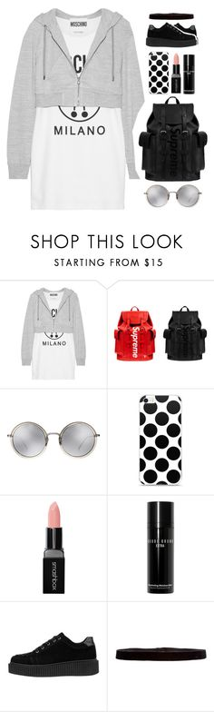 """BWG"" by www-som ❤ liked on Polyvore featuring Moschino, Louis Vuitton, Linda Farrow, Smashbox, Bobbi Brown Cosmetics and Steve Madden"