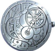 SteamPunk Clock themed Geocoin - Antique Silver -  U/T