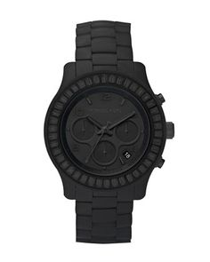 Michael Kors Blackout Silicone Watch. Hard to read, but it might be Batman's watch.