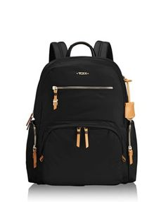 014b94a8b418f Valletta Backpack & Wristlet - All Black   Style   Leather laptop backpack,  Computer backpack, Laptop bag for women