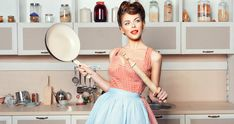 Pin-Up Kitchen photos, royalty-free images, graphics, vectors & videos Vintage Bakery, Vintage Mom, Glam Photoshoot, Photoshoot Themes, Pin Up, Retro Housewife, Domestic Goddess, Embroidery Fashion, Kitchen Photos