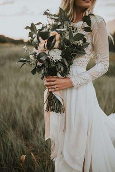 Wedding Bouquets Lace-sleeved wedding dress a matte green and peach wedding bouquet Wedding First Look, Dream Wedding, Wedding Bouquets, Wedding Flowers, Wedding Dresses, Wedding Favors, Wedding Invitations, Wedding Bridesmaids, Wedding Dress Quiz