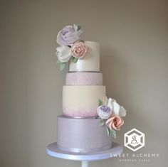 Shades of Lilac by Sweet Alchemy Wedding Cakes