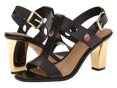 Isaac Mizrahi New York Sasha Black Leather - 6pm.com