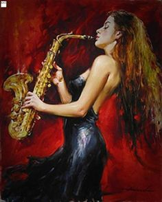 Hand Painted Abstract Beautiful Girl Musical Nstrument Oil Painting Canvas Decoration Home Wall Living Room Artwork Fine Art Jazz Art, Jazz Music, Music Painting, Oil Painting Abstract, Painting Canvas, Dance Paintings, Art Expo, Saxophone Players, Jazz Players