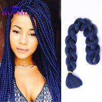 10pcs165g Xpression Braiding Hair Marley Honey Blonde Blue Kanekalon Jumbo Braid Synthetic Extensions For Twist Box