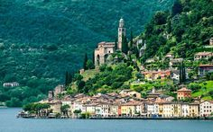 Morcote is located on the shores of Lake Lugano, in the Italian part of Switzerland. It has the best of both worlds: Italian charm and Swiss cleanliness.