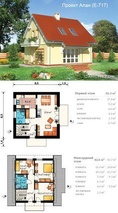 House plans architecture interiors 36 New Ideas Tyni House, Sims House, Facade House, Plans Architecture, Residential Architecture, Interior Architecture, Interior Design, Small House Plans, House Floor Plans