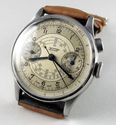 Steel Tissot vintage chronograph wristwatch, circa 1938 Steel Tissot vintage chronograph wristwatch, circa A rare steel single button chronograph wristwatch with register and Lemania calibre Best Watches For Men, Old Watches, Amazing Watches, Beautiful Watches, Vintage Watches, Retro Mode, Hand Watch, Skeleton Watches, Luxury Watches