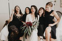 Les demoiselles d'honneur en noir | Look Mariage | Queen For A Day - Blog…