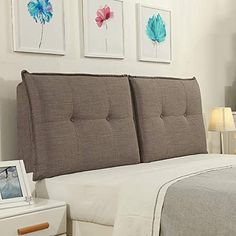 GDHSALE Headboard Bed Backrest Cushion Bed Cushion Bedside Pillow with Bed headboard Cloth Large Soft Pillow Lumbar Support,Detachable 7 Solid Colors 14 Sizes (Color : Dark Gray, Size : Pillow Headboard, Bed Rest Pillow, Big Cushions, Big Pillows, Living Room Sofa Design, Modern Bedroom Design, Bed Backrest, Cool Headboards, Large Beds