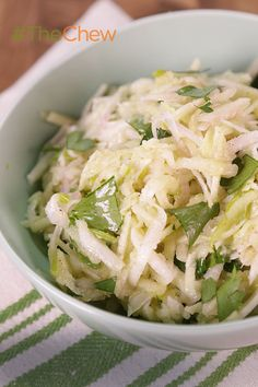 Use the fresh ingredients of the summer to change up your normal slaw recipe for this Kohlrabi Slaw!