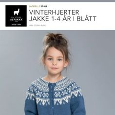 DSA57-11 Vinterhjerter genser 1-4 år i blått – Du Store Alpakka Blouse, Tops, Women, Fashion, Scale Model, Moda, Fashion Styles, Blouses, Fashion Illustrations