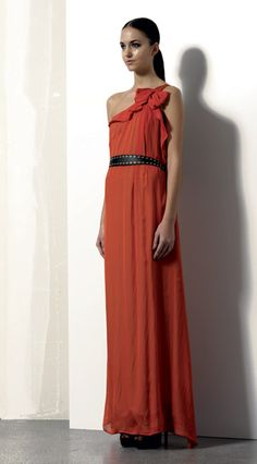 Look 12 . 361 Abito / Dress . 216P Scarpa / Shoes