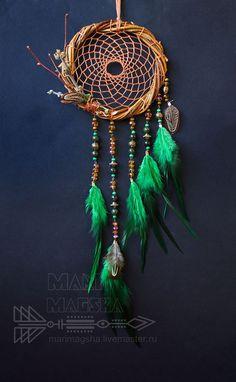 "Hunters handmade dreams. Dream Catcher ""Forest Song"". MariMagsha (Maria). Online Store Fair Masters. Dreamcatcher"