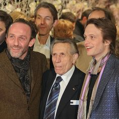 Karl Markovics, Andreas Schmidt, Adolf Burger and August Diehl at the Premier of The Counterfeiters at the Berlinale 2007