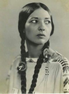 Te Ata, Chickasaw, born December 3, 1895 in Oklahoma...her name meant 'Bearer of the Morning'