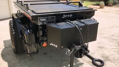 Jeep Off Road Expedition Trailer - with Truck Covers USA Retractable Cover Trailer Tent, Off Road Camper Trailer, Tent Campers, Trailer Build, Camp Trailers, Expedition Trailer, Overland Trailer, Off Road Camping, Camping Car