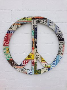 4' Plates of Peace License plate art Peace Sign by Freebirdrelics, $250.00