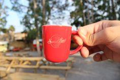 Café de Sumatra Origen único tueste natural taza roja espresso coffee Sweetland Café