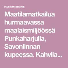 Maatilamatkailua hurmaavassa maalaismiljöössä Punkaharjulla, Savonlinnan kupeessa. Kahvila, kotieläinpiha ja mummolan meinikiä. Finland, Places To Go