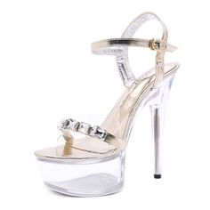 6ee35f671ff 2019 New Transparent Shoes Crystal Open Toed High Heels Women Transparent  Heel Sandals Women Pumps Gladiator Sandals Women