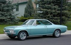 Chevy Corvair ...my dad took us for a 3 month trip in a 1964 corvair....best trip ever ... eve if the Corvair was unsafe at any speed