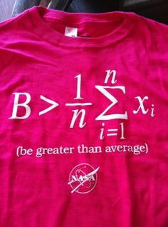Great shirt (Yes I'm a math nerd)