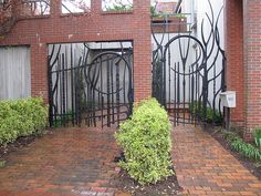 Early Albert Paley Private Gate Commission Door/Gate of the Day Garage Gate, Gate Way, Cool Doors, Door Gate, Forging Metal, Stair Railing, Built Environment, Door Knockers, Garden Gates