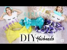 THUMBS UP For a CUTE and EASY DIY! After my Korean Haul video, numerous you requested for me to do a DIY video of those tremendous cute hairbands! These DIY hairbands are simple to Makeup Hairband, Bow Hairband, Diy Headband, Headbands, Wash Your Face, Face Wash, Diy Fashion Accessories, Cute Korean, Cute Bows