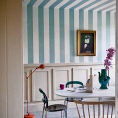 Esszimmer Wohnideen Möbel Dekoration Decoration Living Idea Interiors home dining room - Striped Esszimmer