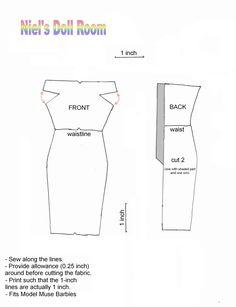 FOUND IT! Niel's doll room, the lost patterns. simple sheath MLA
