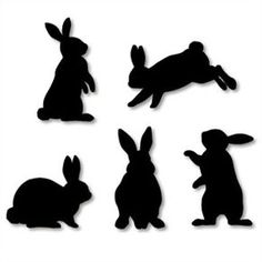 Wall Decorations: Rabbit,Home and Living,Paper Craft,rabbit . Wall Decorations: Rabbit – Others – Parties & Events – Paper Craft – Canon CREAT… - Fabric Crafts FREE printable bunny templates for wall art different color options) / Canon CREATIVE Rabbit Silhouette, Silhouette Cameo, Silhouette Images, Black Wall Stickers, Bunny Templates, Fun Prints, Easter Crafts, Easter Decor, Easter Bunny