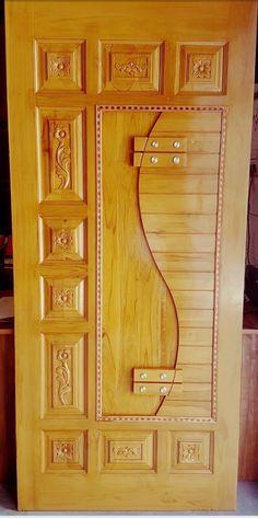 42 Ideas Main Door Design Entrance With Ganesh Wooden Front Door Design, Double Door Design, Wood Front Doors, Wooden Doors, Room Door Design, Door Design Interior, Single Main Door Designs, Ceiling Design, Ganesh Design
