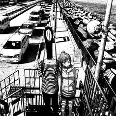 oyasumi punpun - Inio Asano (the distortion of the human body conveys the madness of the character) Manga Love, Good Manga, Black Metal, Black And White, Bonne Nuit Punpun, Bd Cool, Goodnight Punpun, Manga Anime, Anime Art