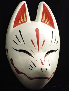Komendo Fox Mask Suzune Kitsune Full Face Cosplay Cosplay dipinto a mano Giappone F / S # . - Komendo Fox Mask Suzune Kitsune Full Face Cosplay Cosplay dipinto a mano Giappone F / S Domin - Kitsune Maske, Anbu Mask, Japanese Fox Mask, Mascaras Halloween, Hotarubi No Mori, Mask Drawing, Japanese Festival, Cool Masks, Full Face Mask