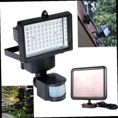 60 LED Solar Security Light Flood Light U0026 Solar Panel With Fittings No  Wiring