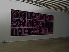 YOU AND ME AGAINST THE WORLD by ALDO CHAPARRO