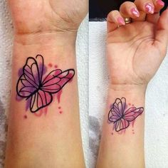 Watercolor Butterfly Tattoo by Karola