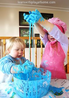 Learn with Play at Home: Cornflour Slime. How to make and what not to do!