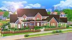 AvelineSims - Huge Family House Nothing winterish about this...